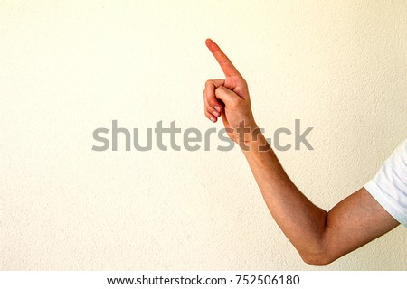 hand gesture movements and signs, warning and threatening sign #752506180