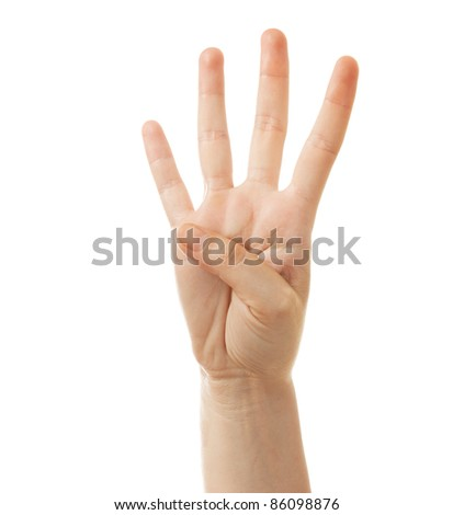 Hand Gesture - Number Four