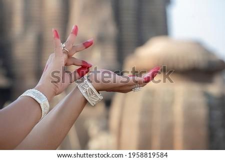 Hand Gesture or Hasta Mudra of Indian classical Dance odissi Foto stock ©