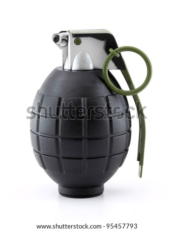 Hand grenade black and gray