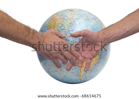 hand grip for world solidarity