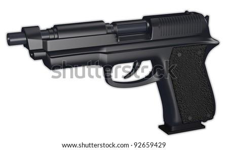 hand gun 3d