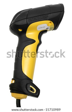 Hand Held Bar code Scanner on White