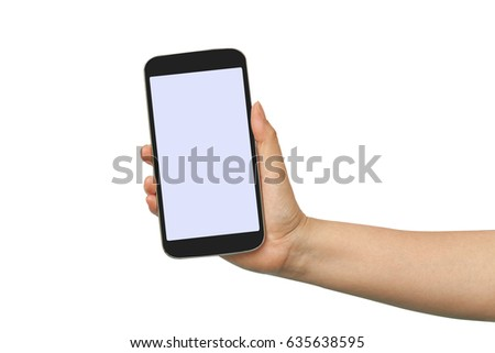 hand hold and touch a cell phone #635638595