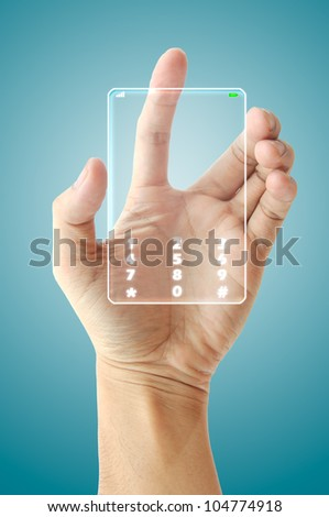 Hand hold future phone technology