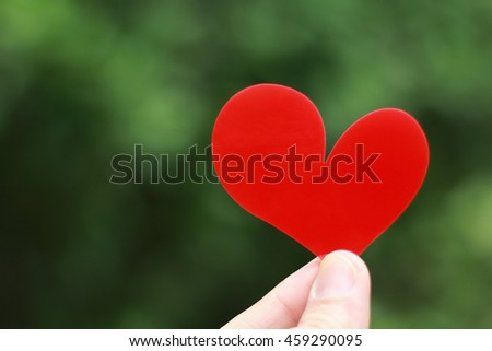 hand hold the red heart, valentine concept,blurry #459290095