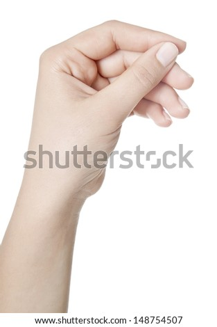 Hand Hold Virtual Card Isolated