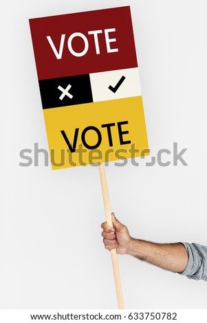hand hold vote sign campaign