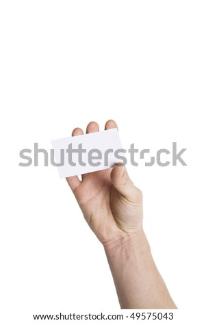 Hand holding blank Business card,with Clipping Path