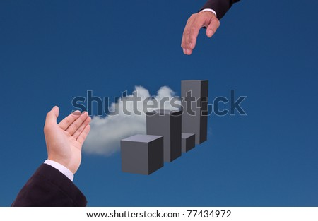 hand holding concept for business help