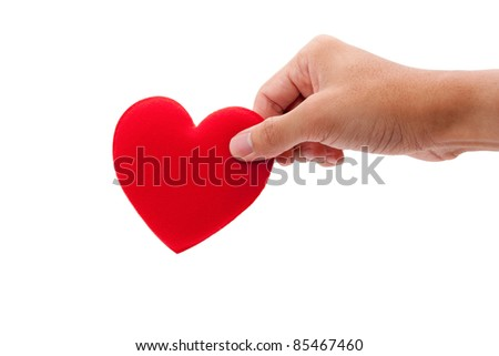Hand holding heart