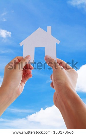Hand Holding Icon House, my dream house concept