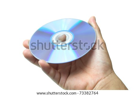 Hand holding the digital Video Disc.