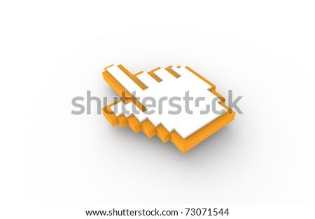Hand icon, Orange