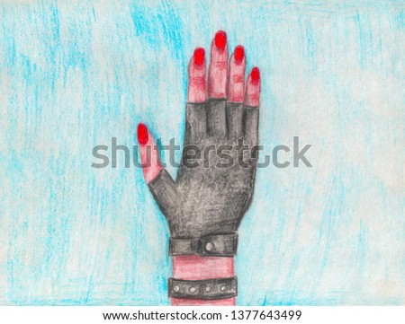 hand in leather glove