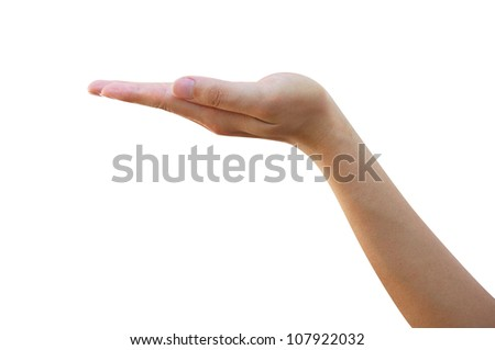 Hand Isolated on White