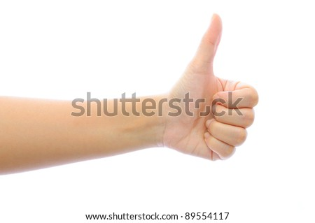 Hand like concept isolated on white background