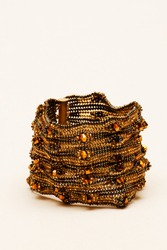 Hand made bracelet made of metals such as silver, copper, brass and gold. Hand made bracelet made by women. Antique bracelet used as jewelry.