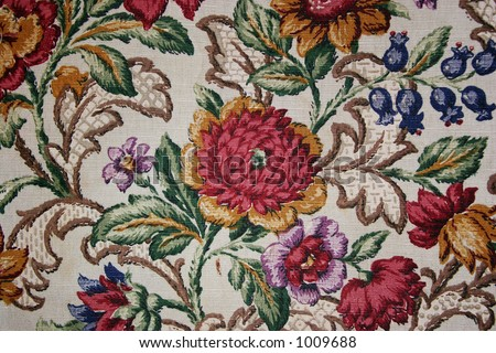 Hand made flower textile design from early 1900s