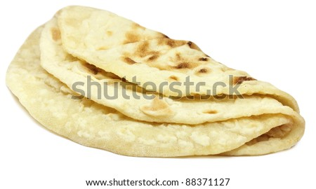 Hand made roti bread of Indian subcontinent