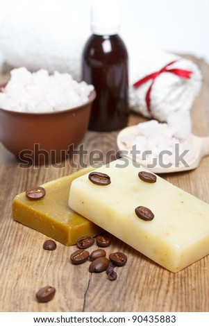 hand-made soap and spa salt