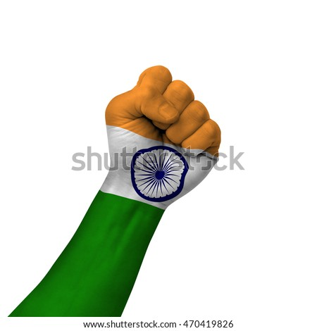 Free Photos Hand Making Victory Sign India Painted With Flag As