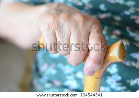hand of a senior person