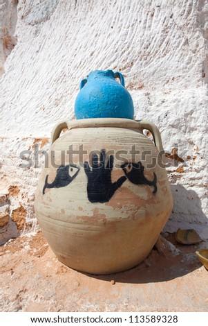 Hand Of Fatima at home of Berber in Tunisia
