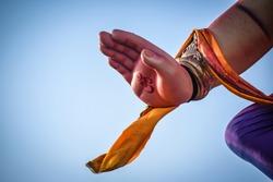 Hand of God Ganesha giving blessings for background