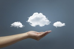 Hand offer the cloud for concept world wide data sharing and communication.