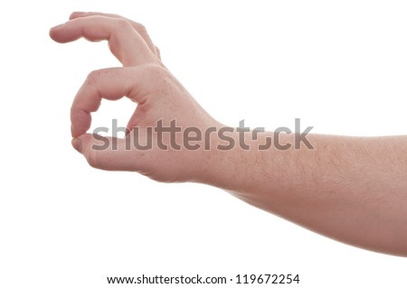 hand on white background - perfect