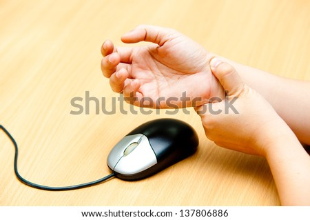 hand pain from mouse