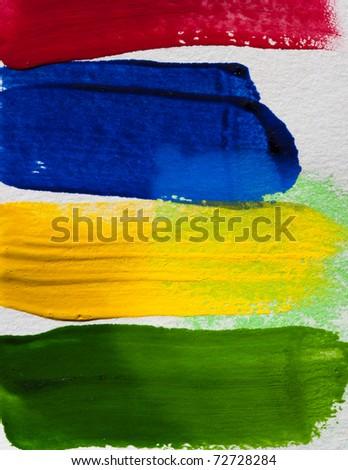 Hand paint color brush texture