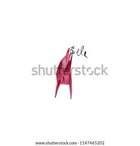 Stock Photo Hand paint watercolor stick figure illustration. Red people. Man takes pictures. Photograph. (Can be used as texture for cards, invitations, DIY projects, web sites or for any other design.)