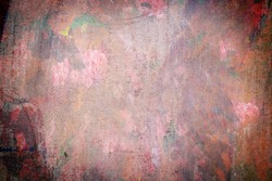 hand painted background abstract oil pained canvas with red blue green and yellow brush strokes