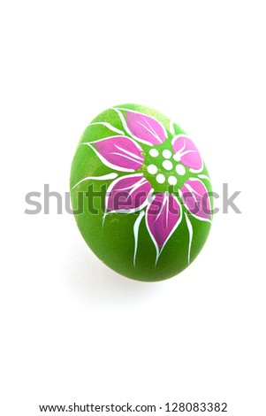 Hand painted colorful decorated egg for Easter