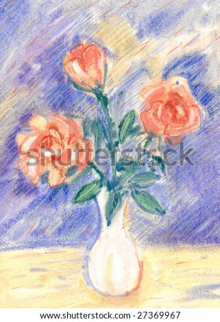 Hand painted roses