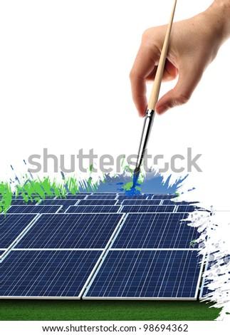 hand painted solar panel