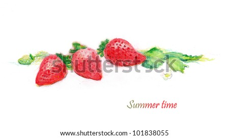 Hand Painted Strawberries
