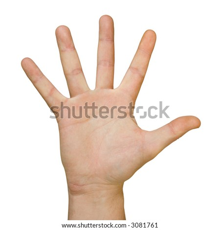 Hand (Palm), Isolated On White Background Stock Photo 3081761 ...