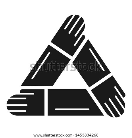 Hand people cohesion icon. Simple illustration of hand people cohesion icon for web design isolated on white background