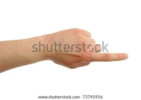 hand photo with clipping paths