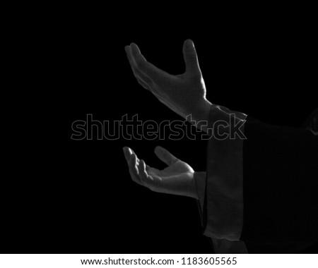 Hand pray allah ask beggar begging belief believe #1183605565