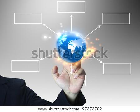 hand press business diagram
