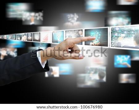 Hand press picture