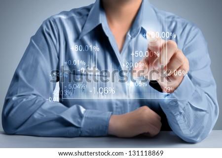 hand pressing a chart button