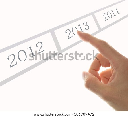 hand push a task with happy new year 2013