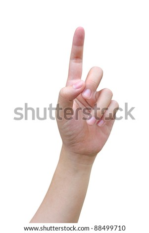 hand pushing - stock photo