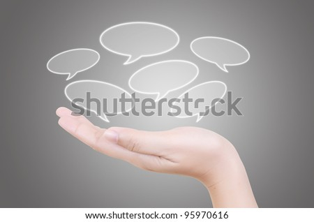 Hand putting button. - stock photo