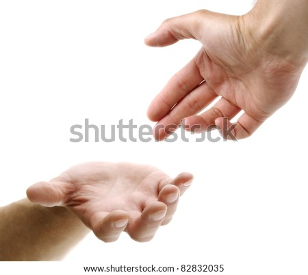 Hand reaching for assistance, support or friendship